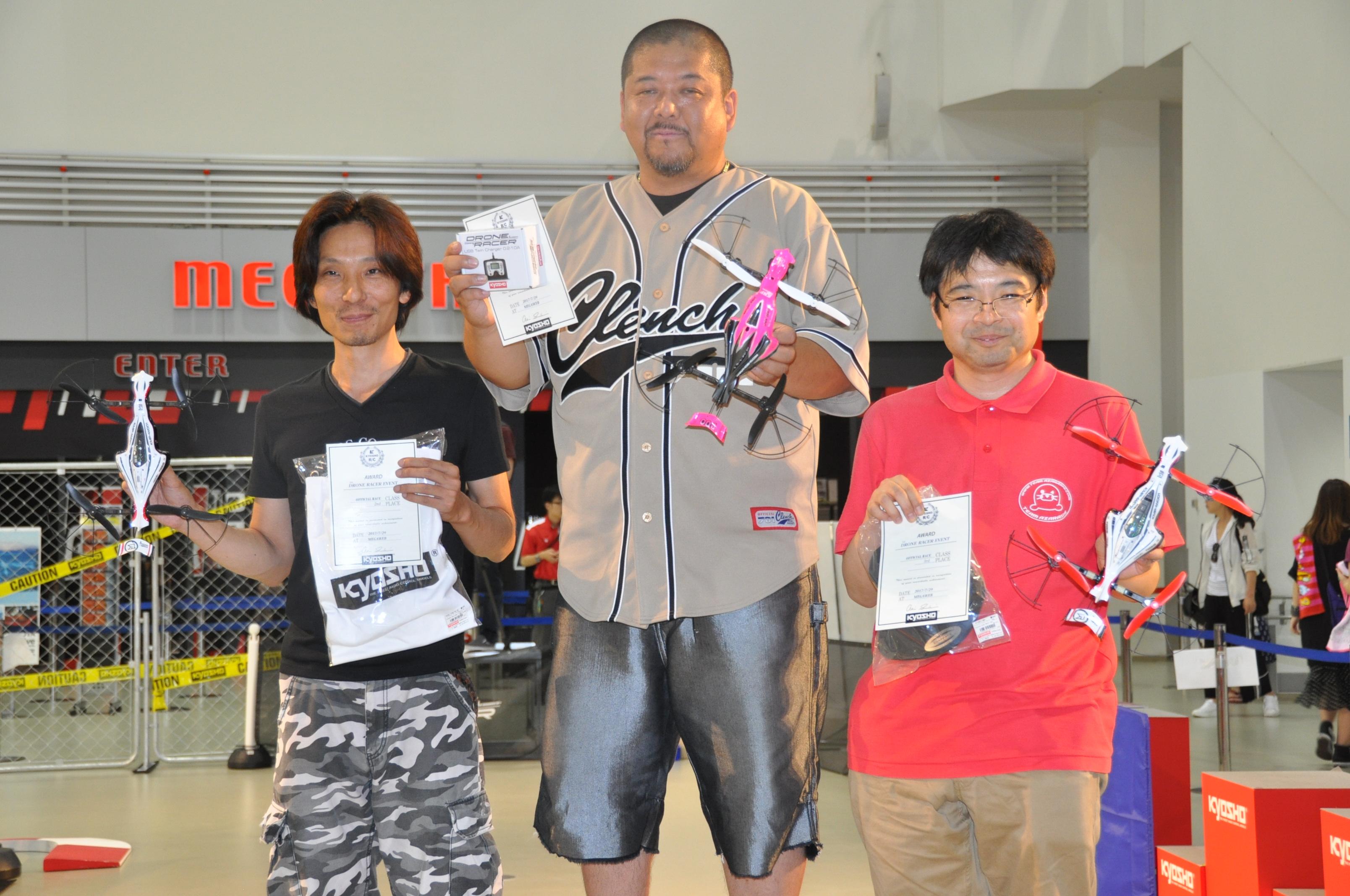 第1回オフィシャルレースの上位入賞者たち