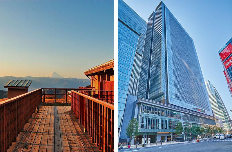 ドローン大学校名古屋キャンパスがある名駅JPタワーと実技合宿地(2回)の様子