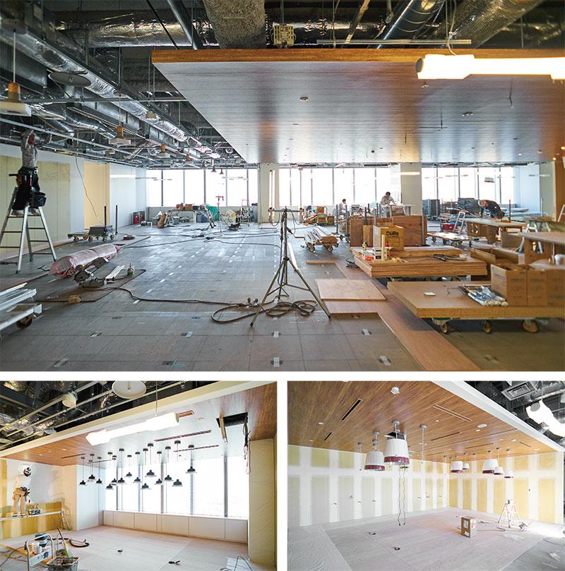 開校に向けて内装施工中のドローン大学校名古屋キャンパス